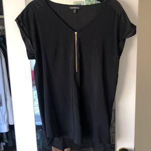 Women's size M black work blouse